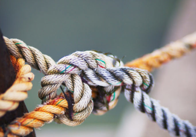 Sweden, Oland, Close-up of rope